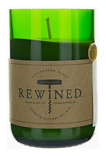 Rewined Recycled Wine Bottle 60-80 Hour Soy Wax Candle - Wine Under The Tree
