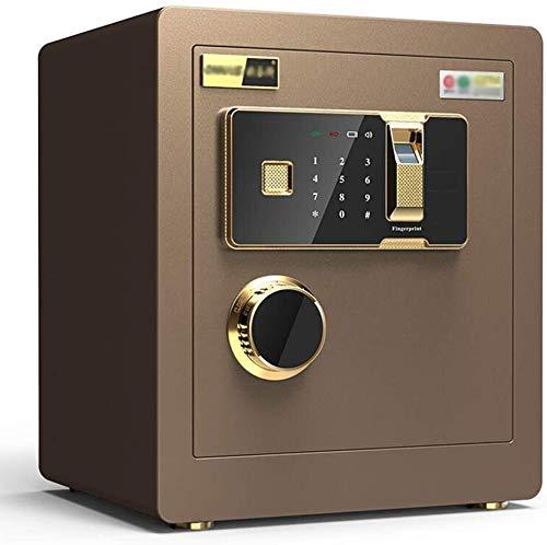 ZXNRTU Cajas de seguridad para el hogar, Caja de seguridad digital electrónica, 36X30X40Cm biométrico de huellas dactilares Inicio de acero de seguridad, pantalla LED, for el hotel de la oficina joyer