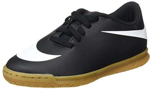 Nike JR Bravata II IC, Botas de fútbol Unisex niños, Negro (Black/White/Black), 30 EU