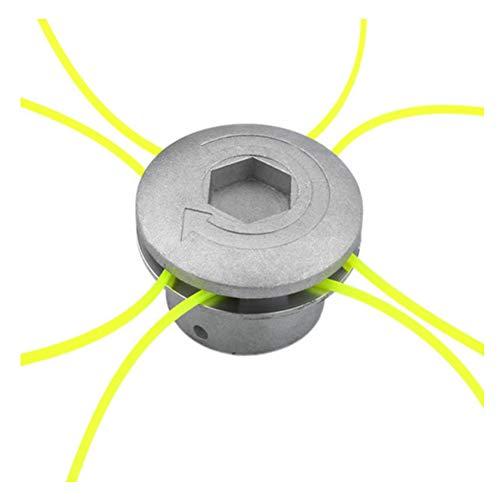 Aluminium Grasmaaikop Met 4 Lijnen Bosmaaier Draad Nylon Grasmaaier Lijnkop voor Grasmaaier Zilver
