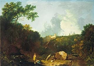 The Perfect Effect Canvas Of Oil Painting 'Richard Wilson - Distant View Of Maecenas' Villa, Tivoli,1756-1757' ,size: 18x25 Inch / 46x65 Cm ,this Best Price Art Decorative Canvas Prints Is Fit For Bar Decoration And Home Decor And Gifts
