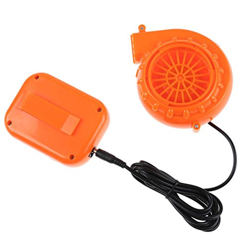 Soofo Mini ventilador soplador para disfraz inflable de cabeza de mascota de 6 V alimentado por batería seca (naranja)