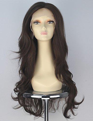 Jiayy Perruque en cheveux synthétiques ondulés pour femme