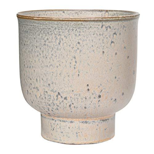 Creative Co-op Champagne Reactive Glaze Stoneware Planter Pflanzgefäß, Steingut, champagnerfarben