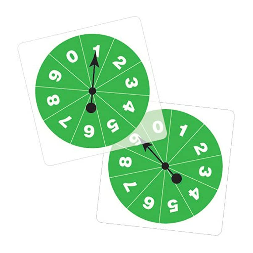 EAI Education Transparent/Student Spinners - Numbered 0-9: Set of 5