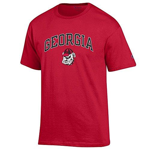 Elite Fan Shop Georgia Bulldogs Tshirt Varsity Red Dawg - Large
