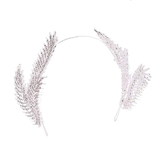 Jezus Liefde U Haaraccessoires Haarband Headdress Bruids Strass Veer Kroon Hoofdband Bruiloft Headdress Banket Jurk Accessoires Wit