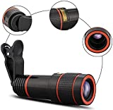 YIHANGG Kit de Lentes de cámara para teléfono Celular, telescopio monocular Universal, Lente de teléfono móvil con Zoom de teleobjetivo, Soporte para la mayoría de teléfonos Inteligentes 8