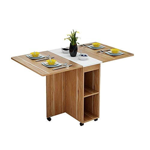 YINGGEXU Dining Chair Kitchen Dining Room Furniture Multifunctional Folding Dining Table And Chair Combination Small Apartment Retractable Household Dining Table Modern Design (Color : Brown, Size : 8