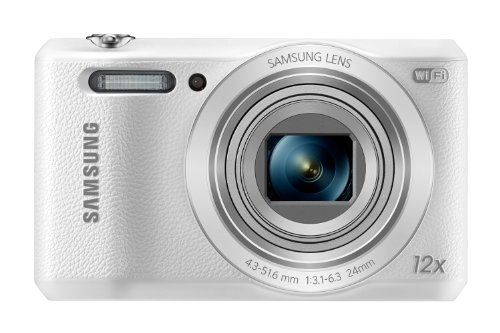 """Samsung WB35F 16.2MP Smart WiFi & NFC Digital Camera with 12x Optical Zoom and 2.7"""" LCD (White)"""