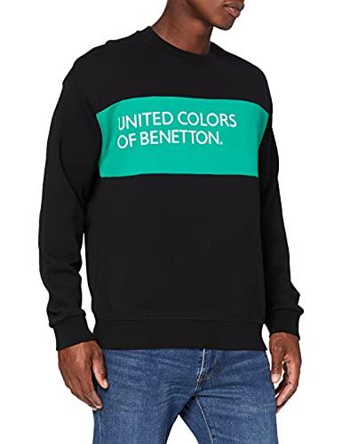 United Colors of Benetton (Z6ERJ Maglia G/c M/l Sudadera Bebe, Negro 100, Hombre