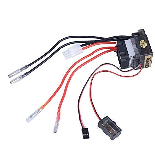 JVJ 7.2–16V versione alta tensione 320a spazzolato esc regolatore di velocità elettronico bidirezionale con freno/Ventola di raffreddamento per RC Auto Barca