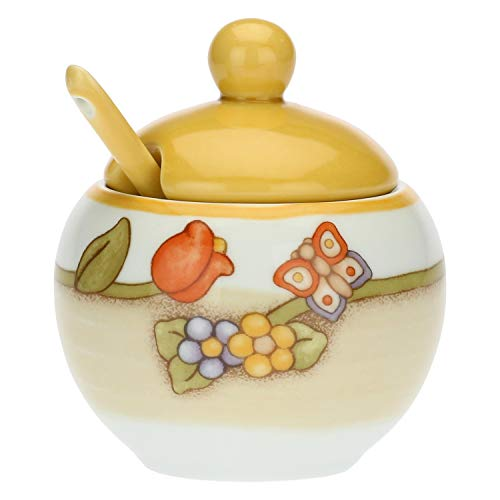 THUN - Zuccheriera in Porcellana con cucchiaino Country