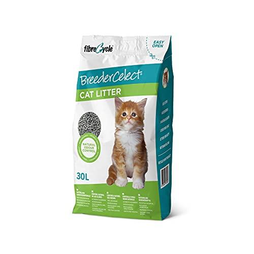 FIBRECYCLE Lecho de Papel Reciclado BreederCelect para Gatos