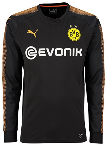 PUMA Erwachsene BVB GK Shirt Black-Fluo Orange, XL