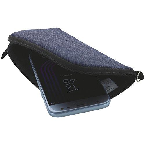 XiRRiX Handyhülle mit Handschlaufe 7.2 - universal Größe 3XL passend für Huawei Honor 7X / Mate 20 Lite/View 10 20 / Nokia 7.2 / Oneplus Nord/Samsung Galaxy A10 A51-M21 M31 - Handytasche blau