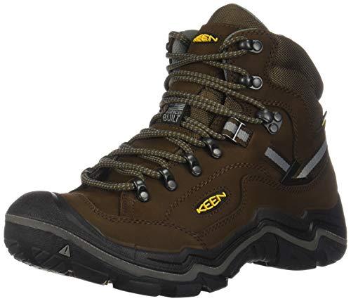 KEEN mens Durand 2 Mid Waterproof Hiking Boot, Cascade Brown/Gargoyle, 10.5 US