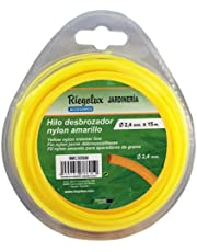 Riegolux 107636 Hilo Desbrozadora Nylon Redonda, Amarillo, 2.4 mm x 15 m