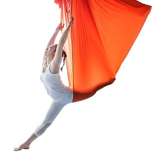 LASERIPLF Aerial Yoga Silks Hammock Set,Nylon Yoga Swing Fitness Anti Gravity Swinging Air Flying With 500 KG Load for Inversion Exercise Pilates Gymnastics 6-6m
