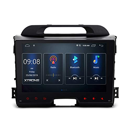 XTRONS 9 Inch Touch Display Android 10.0 Quad-Core Car Stereo Radio Navigator GPS with Bluetooth 5.0 USB Port Full RCA Output Supports DVR OBD TPMS Backup Camera for Kia Sportage