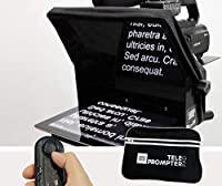 TeleprompterPAD iLight Pro 10'' - 100x100 Aluminum - Robust (No Flimsy Plastic). Compatible with iPad/Android. Portable. Multi camera. HD Beamsplitter Glass. High Quality. Made in EU