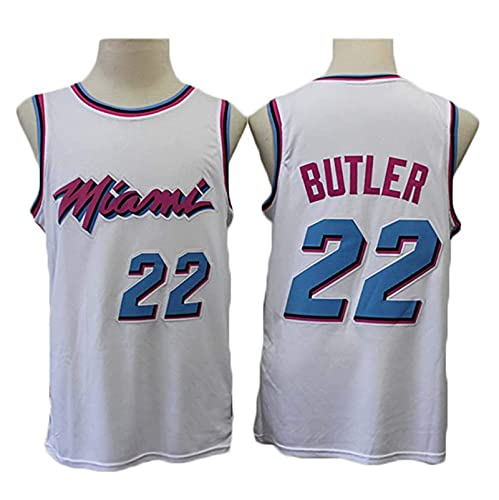 TGSCX Jersey para Hombres- Miami Heat 22# Jimmy Butler-Mesh Baloncesto Jersey Unisex Camiseta sin Mangas Camiseta de Baloncesto Jersey Chaleco,XL