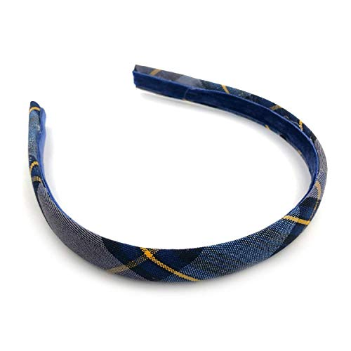 School Uniform Thin Headband Plaid 57 for Girls