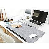MeRaYo Large PU Felt Laptop Desk Pad Writing Pad for Office Desk Mate