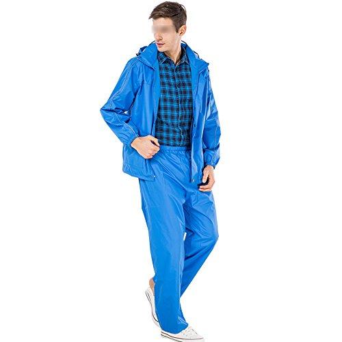 NYDZDM regenjas voor volwassenen, voor outdoor, paardrijden, motor, regenjas, set, modieus, split, regenkleding, batterij, auto, verdikking, licht, regenjas, blauw