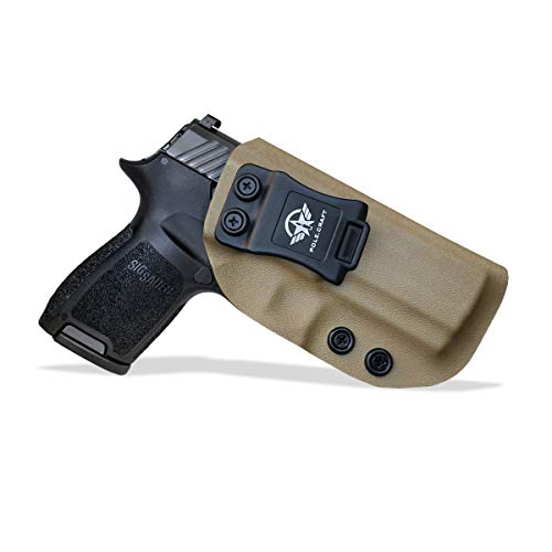 IWB Tactical KYDEX Gun Holster Custom Fits: Sig Sauer P320 Full Size / P250 / P320 Carry / P320 Compact Medium Funda de Transporte Pistol Case Inside Concealed Carry Holster Guns Accessories B