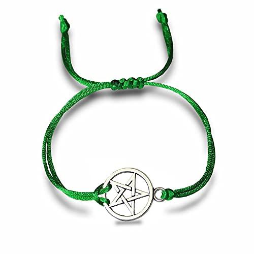yuge Bohemian Heart Couples Bracelets Set For Women Men Pentagram Infinite Wing Knot Contrast Bracelet Best Friend Wish Jewelry greenPentagram