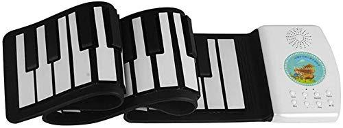 Piano portátil, teclado de piano juguete educativo de 49 teclas Teclado portátil eléctrico rueda for arriba el piano recargable juguete adulto Kid plegable flexible wxt (Color : B)