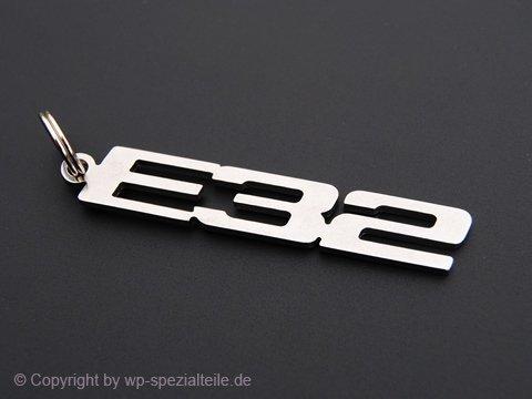 E32 Schlüsselanhänger Emblem aus Edelstahl hochwertig NEU