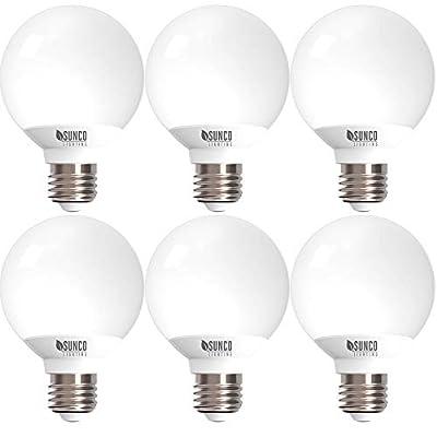 Sunco Lighting 6 Pack G25 LED Globe, 6W=40W, Dimmable, 450 LM, 2700K Soft White, E26 Base, Ideal for Bathroom Vanity or Mirror - UL & Energy Star