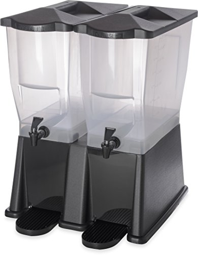 Carlisle 1085703 TrimLine Opaque BPA-Free Economy Double Base, 7 Gallon Capacity, Black