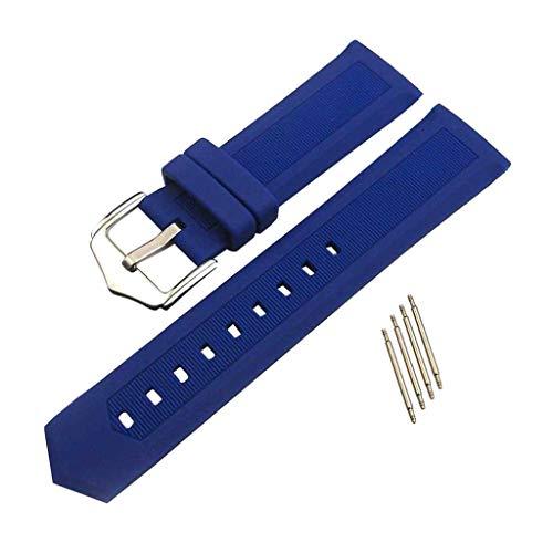 Pulsera de goma de silicona impermeable de liberación rápida azul 16-22 mm