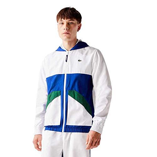 Lacoste Sport Bh2102 Abrigo de vestir, BLANC/COSMIQUE-VERT,