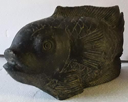 Original aus Bali Fisch, Koi, Diskus, 11 Kg schwer, 46 cm lang, 24 cm hoch,