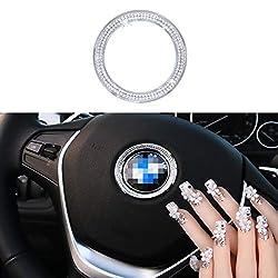 BMW Steering Wheel Bling Crystal Badge Emblem
