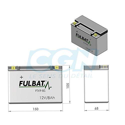 Batería FULBAT YT9B-4 12V 8Ah 115A Largo: 150 x Ancho: 68 x Alto 105 (mm)