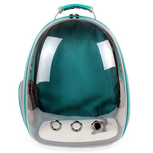 ペットバッグ ペット用キャリーバッグ 宇宙船カプセル型ペットバッグ 犬猫兼用 犬 バッグ 犬 リュック 通気 メッシュ 犬 用 お出かけ バッグ 人気ペット鞄 (PVC-ミントグリーン)