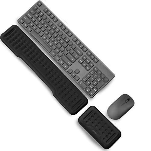 Vaydeer Handballenauflage für Tastatur und Maus Handgelenkauflage Ergonomisch Wrist Rest Memory Foam Handauflage Set für Büro und Spiele - Schwarz