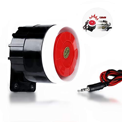 DC 12V Mini Red Wired Horn Sirene Sound Alarm System Warnhorn für Home Security 120dB