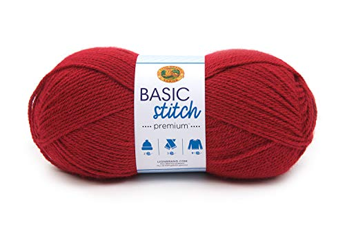 Lion Brand Yarn Basic Stitch Premium Yarn, Garnet