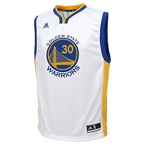 NBA Golden State Warriors Stephen Curry Youth 8-20 Replica Home Jersey, X-Large, White