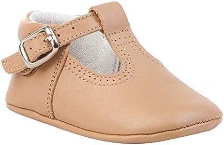 Patucos Pepitos para Bebé Todo Piel, mod.247. Calzado infantil Made in Spain, Garantia de calidad. (18, Camel)
