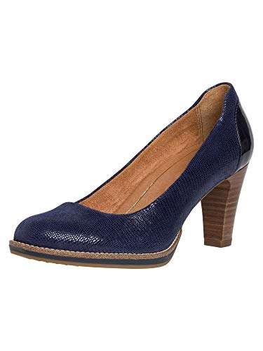 Tamaris 1-1-22425-24, Pompe Femme, Bleu Royal Struct...
