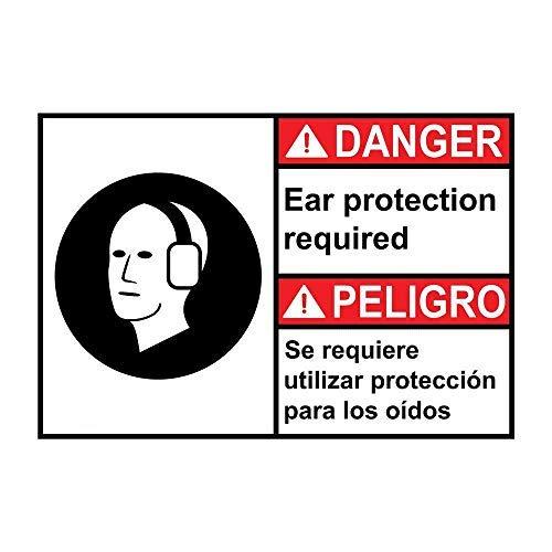 Montrwie Decoración de pared única, 16 x 12 pulgadas, protección para los oídos requerida, se requiere protección para los Oídos, placa de metal de aluminio retro, regalo novedoso