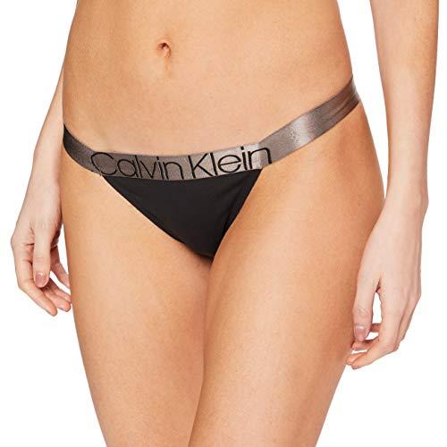 Calvin Klein Unisex High Leg Tanga Dessous, Schwarz, M