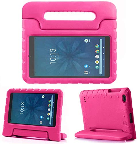 """Golden Sheeps Kid Friendly Case Compatible for Walmart onn. 8"""" Tablet 2020 (Model: 100011885) / 2019 (Model ONA19TB002) Shockproof Ultra Light Weight Convertible Handle Stand Cover (Rose)"""